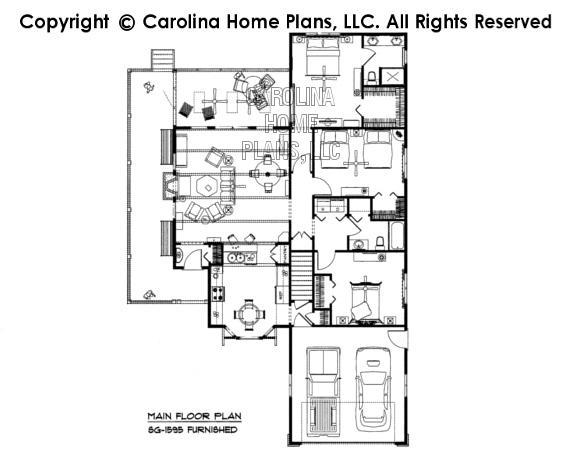 SG-1595-AA Furnished Main Floor Plan