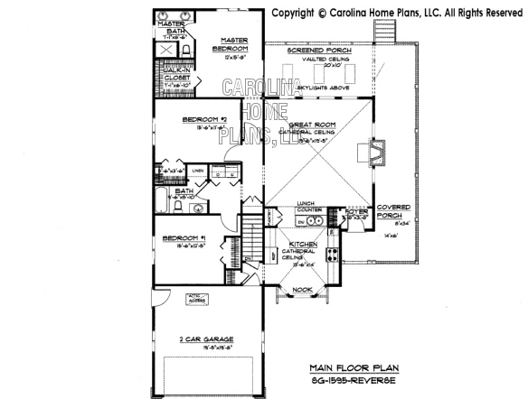 SG-1595 Reverse Main Floor Plan