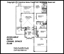 SG-1595 Main Floor Plan