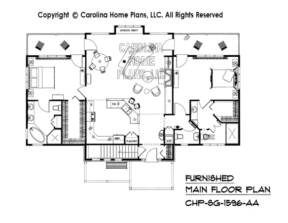 SG-1596-AA Furnished Main Floor Plan