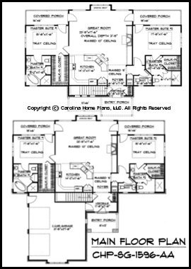 Small Craftsman Bungalow House Plan CHP-SG-1596-AA Sq Ft ... on house floor plans with 2 master suites, best master suite, house plans 2 master bedroom floor plans, house master bedroom interior design, house plans with dual master suites, 2 bedroom house plans with master suite,