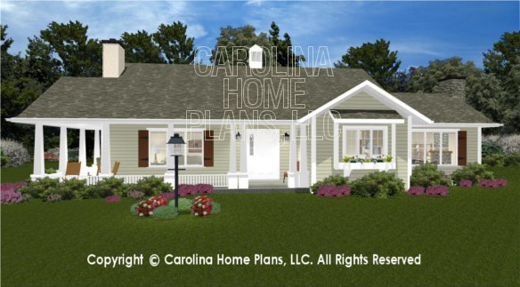 3d images for chp sg 1660 aa small craftsman cottage 3d for Carolina house plans