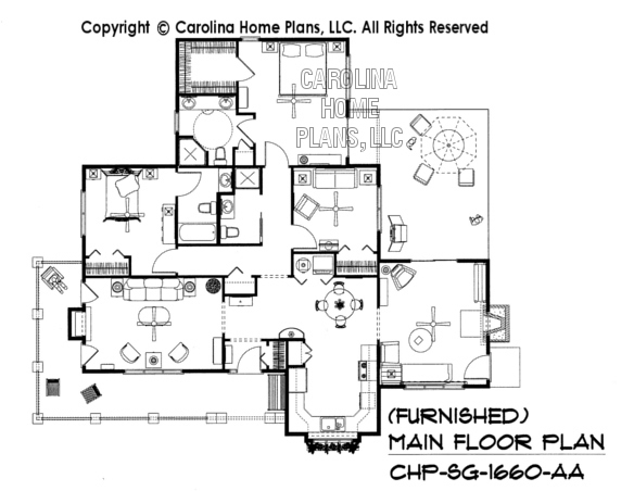 SG-1660-AA Furnished Main Floor Plan