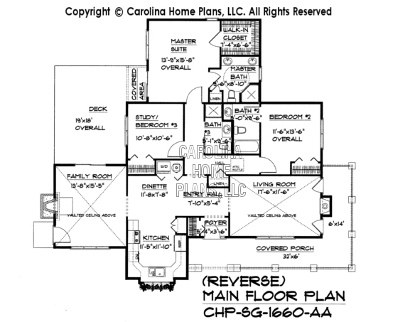 SG-1660 Reverse Main Floor Plan