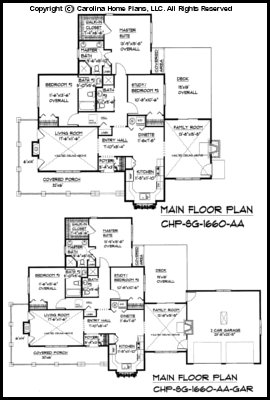 Small Craftsman Cottage House Plan CHP SG 1660 AA Sq Ft Affordable