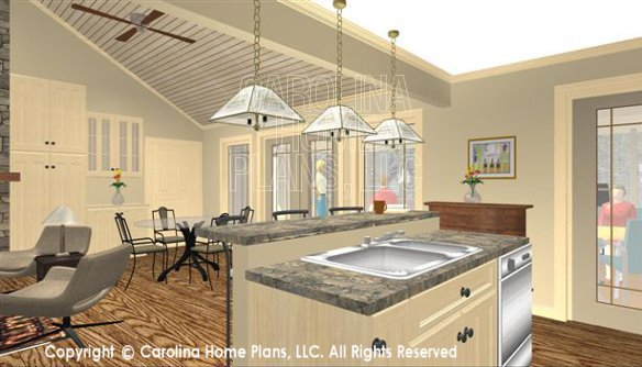 SG-1681 3D Kitchen Island to Dining