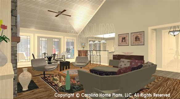 SG-1681 3D Living-Dining to Kitchen