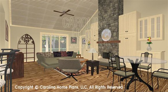 SG-1681 3D Living Rm to Fireplace Built-ins