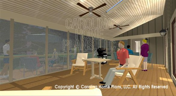 SG-1681 3D Screened Porch to Deck