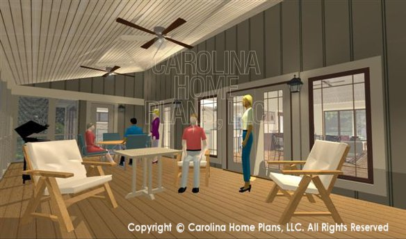 3d images for chp sg 1681 aa small country ranch 3d for Carolina plan room
