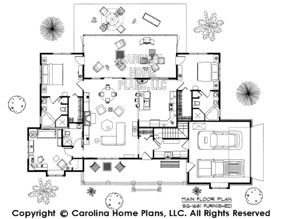 3d images for chp sg 1681 aa small country ranch 3d for Carolina house plans