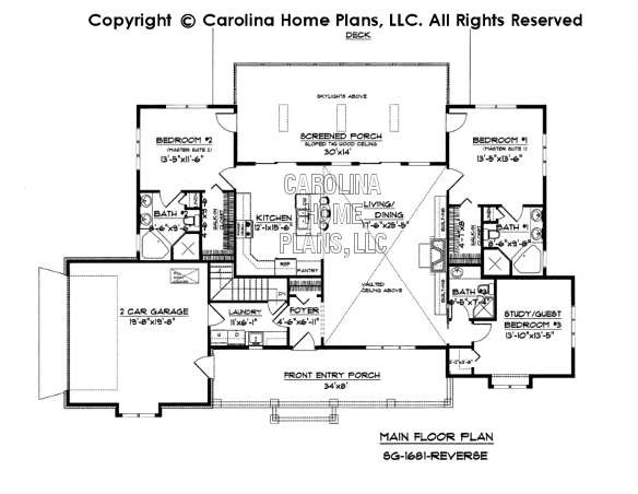 Small Country Ranch Style House Plan SG1681 Sq Ft – Country House Plans With Open Floor Plan