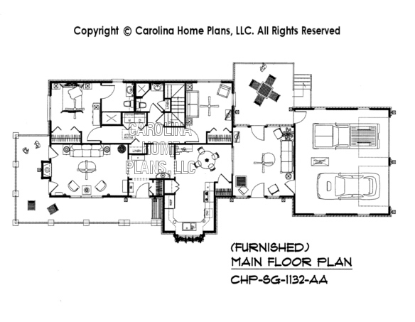 SG-1132-AA Furnished Main Floor Plan