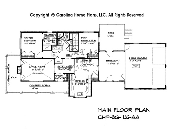 SG-1132 Main Floor Plan