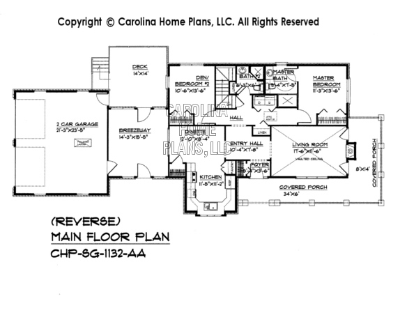 SG-1132 Reverse Main Floor Plan
