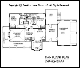Small Brick Country House Plan SG-1132 Sq Ft | Affordable Small Home ...