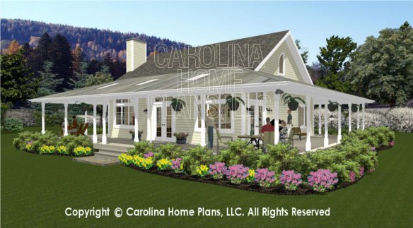 3d images for chp sg 1280 aa small country cottage 3d for Carolina home designs