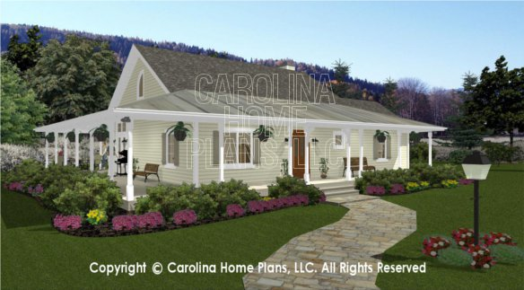 3d images for chp sg 1280 aa small country cottage 3d for Carolina cottage house plans