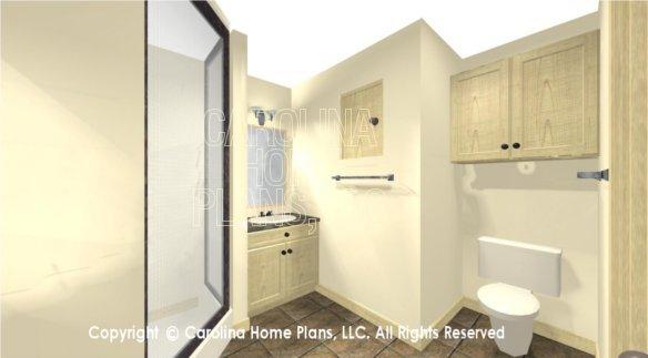 SG-1280 3D Master Bath  Toilet Area