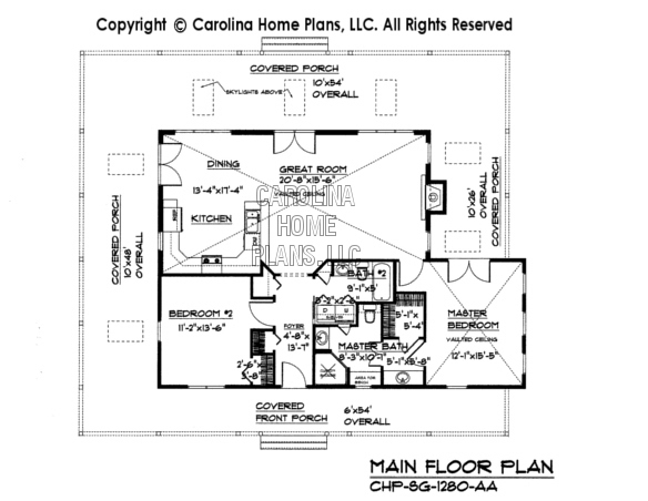 SG 1280 Main Floor Plan