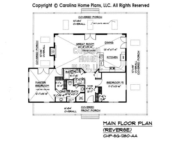 SG-1280 Reverse Main Floor Plan