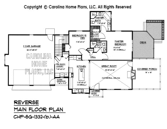 SG-1332 Reverse Main Floor Plan