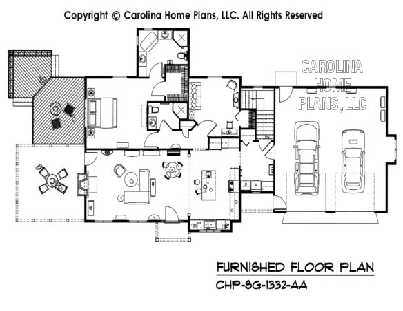SG-1332-AA Furnished Main Floor Plan