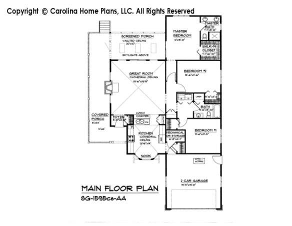 SG-1595-cs Main Floor Plan