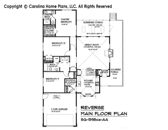 SG-1595-cs Reverse Main Floor Plan
