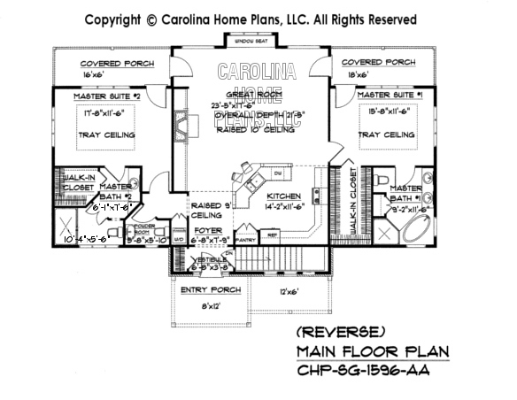 SG-1596 Reverse Main Floor Plan