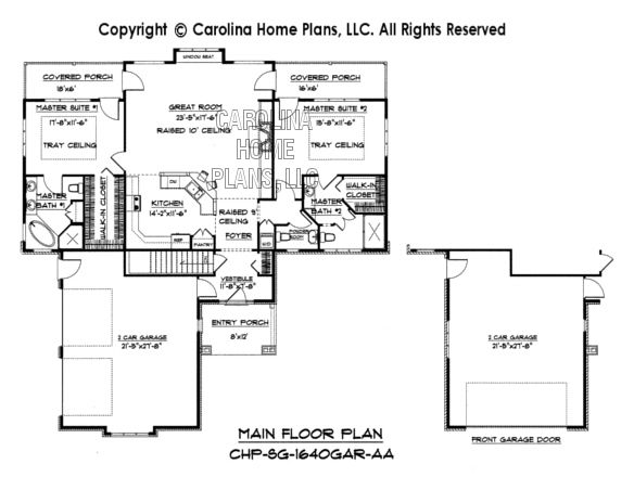 SG-1640 Main Floor Plan Garage & Basement