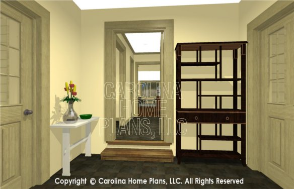 SG-1677 3D 2-Car Breezeway to House