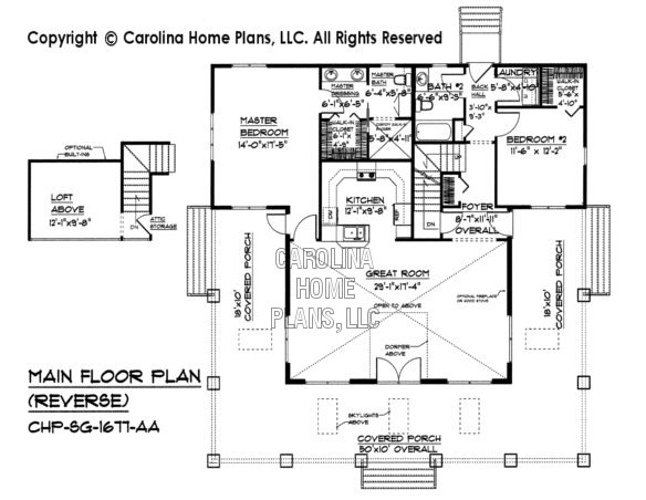 SG-1677 Reverse Main Floor Plan