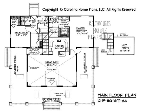 SG-1677 Main Floor Plan