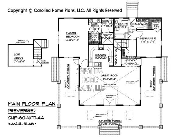 SG-1677 Reverse Floor Plan with crawl/slab