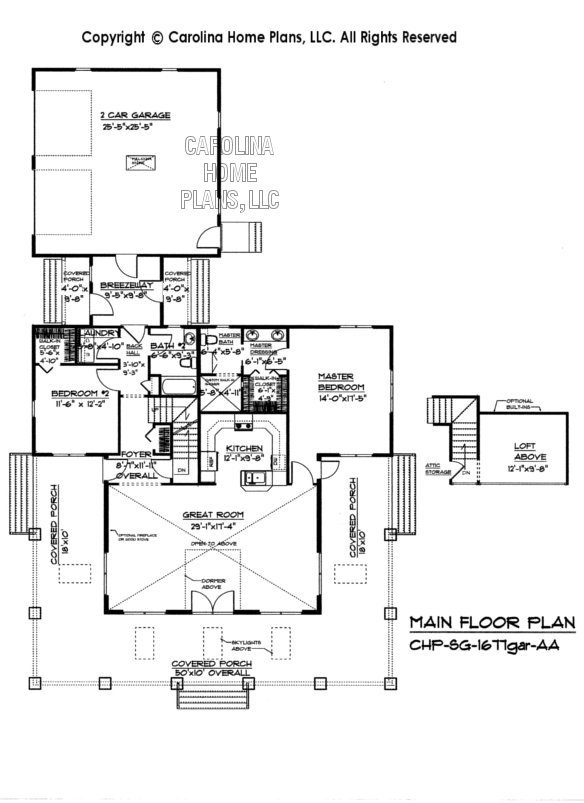 SG-1677 Main Floor Plan, Garage