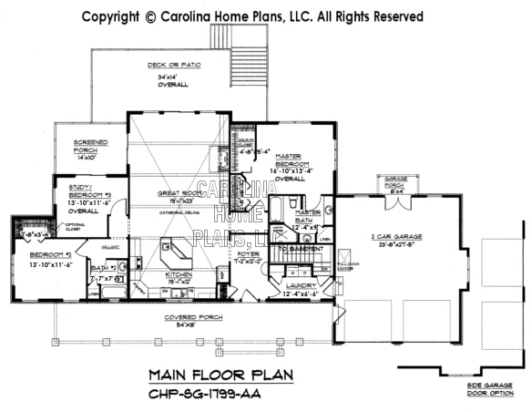 SG-1799 Main Floor Plan
