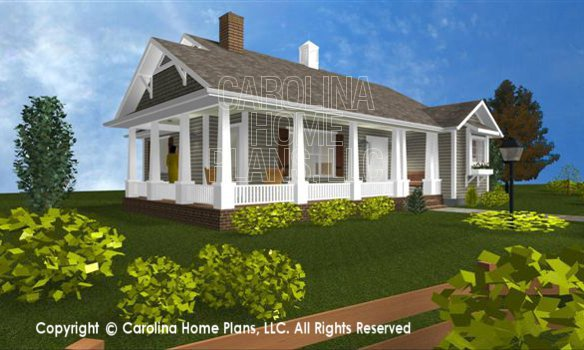 3d images for chp sg 1016 aa cottage style 3d house plan for Carolina cottage house plans