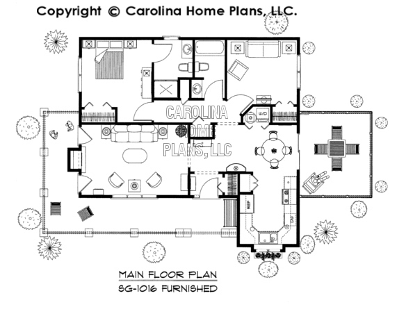 SG-1016-AA Furnished Main Floor Plan