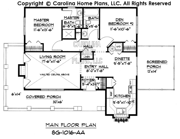 SG-1016 Main Floor Plan