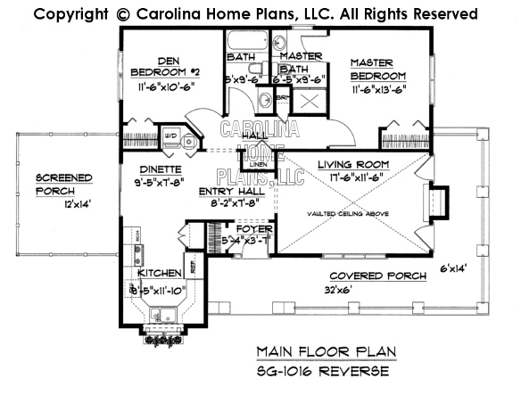 small cottage style house plan sg 1016 sq ft affordable On reverse floor plan