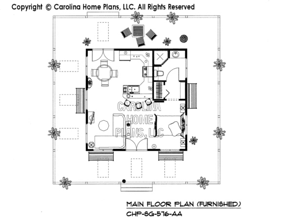 SG-576-AA Furnished Main Floor Plan