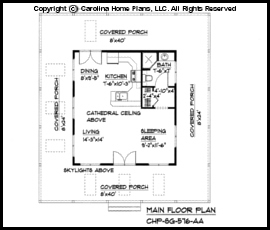 Tiny Cottage Style House Plan SG 576 Sq Ft Affordable Small Home