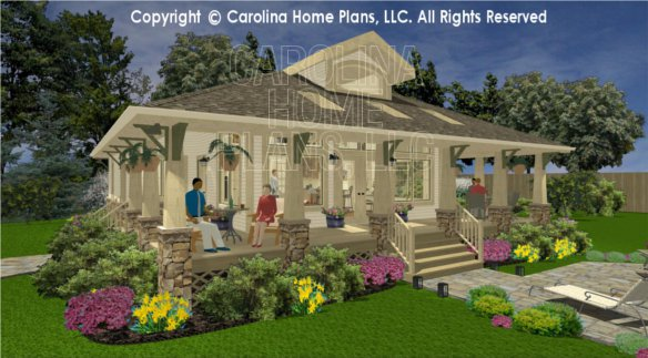 3d images for chp sg 979 ams small stone craftsman for Carolina home designs