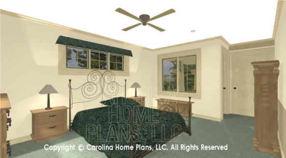 SG-979 3D Master Bedroom to Porch