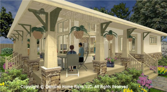 side porch house plans 3d bungalow side view joy studio