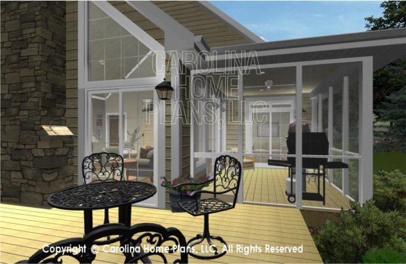 SG-1096 3D Deck to Screened Porch