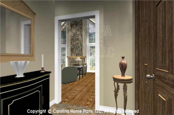 Foyer And Great Room : D images for chp sg ams small craftsman cottage