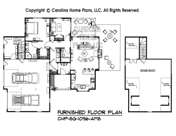 SG-1096-AMS Furnished Main Floor Plan
