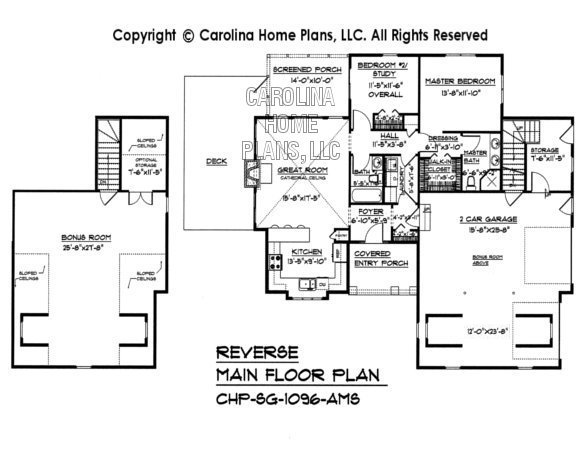 SG-1096 Reverse Main Floor Plan